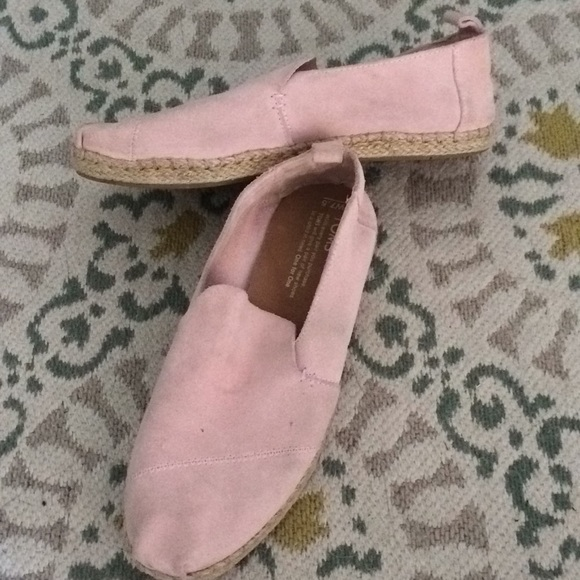 Toms Shoes | Pink Suede | Poshmark